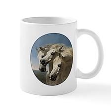 White Arabian Horses. Mug