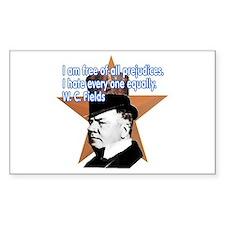 W. C. Fields Quotation t-shir Sticker (Rectangular