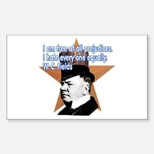W. C. Fields Quotation t-shir Sticker (Rectangular