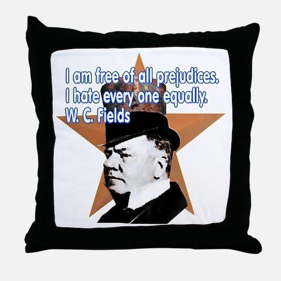 W. C. Fields Quotation t-shir Throw Pillow