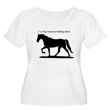 Love my TWH Women's Plus Size Scoop Neck T-Shirt