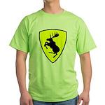 "Green T-Shirt, 9"" moose FRONT"