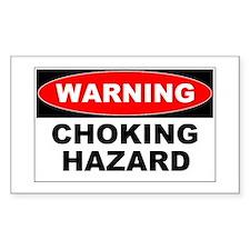 Choking Hazard Rectangle Decal