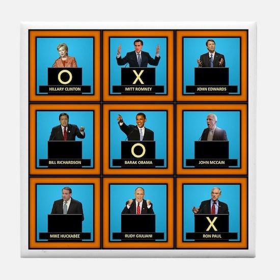 Presidential Squares Tile Coaster