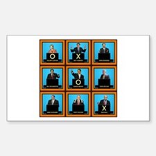 Presidential Squares Rectangle Decal