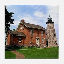 Charlotte Genesee Lighthouse Tile Coaster