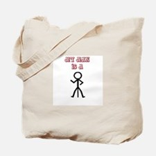 """My Man Is A Tripod"" Tote Bag"