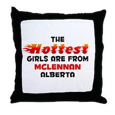 Hot Girls: McLennan, AB Throw Pillow