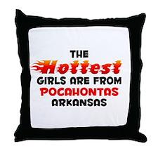 Hot Girls: Pocahontas, AR Throw Pillow