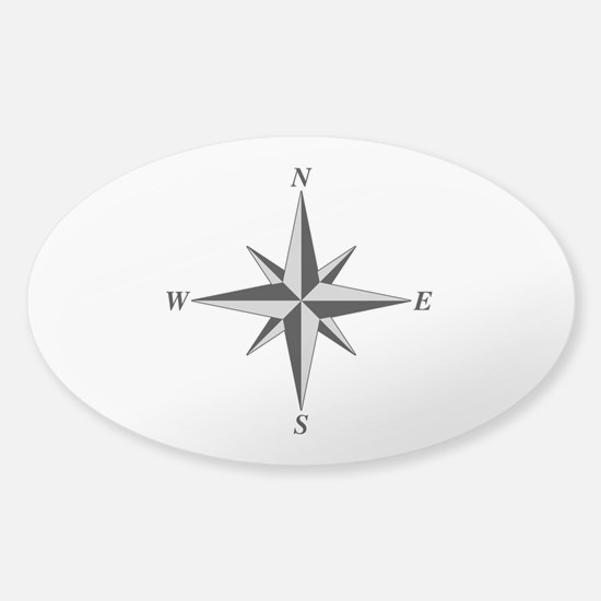 North Arrow Oval Decal