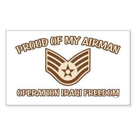Proud of my Airman E5 Rectangle Sticker