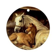 Mare & Foal Mother's Day Ornament (Round)