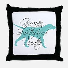 Elegant Teal GSP Throw Pillow