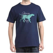 Elegant Teal GSP Dog T-Shirt