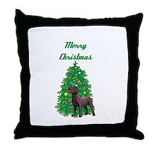 Merry Christmas Labrador Throw Pillow