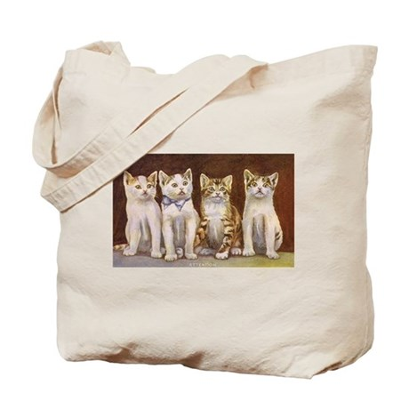 Four Kittens at Attention Vin Tote Bag