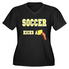 Yellow Card Women's Plus Size V-Neck Dark T-Shirt