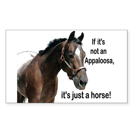 If Not Appaloosa-1 Rectangle Sticker