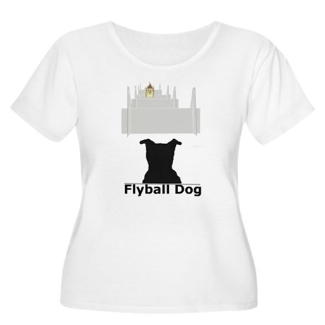 Flyball Inflatodog Women's Plus Size Scoop Neck T-
