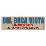 Del Boca Vista University Bumper Sticker