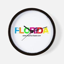 Colorful Florida Wall Clock