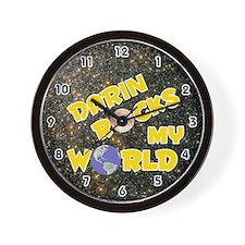 Darin Rocks My World (Gold) Wall Clock