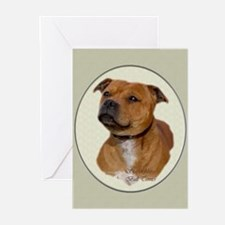 Staffordshire Bull Terrier Greeting Cards (Pk of 2