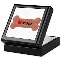 LOVE MY DOGS Keepsake Box