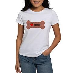 LOVE MY DOGS Women's T-Shirt