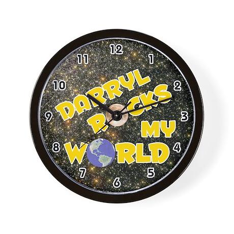 Darryl Rocks My World (Gold) Wall Clock