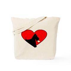 Scottie Valentine Tote Bag
