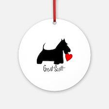 Great Scott Heart Ornament (Round)