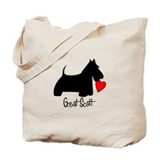 Great Scott Heart Tote Bag