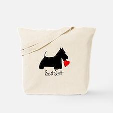 Great Scott Heart Tote Bag