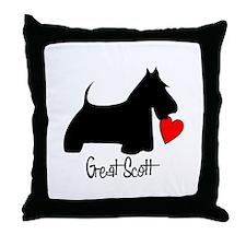 Great Scott Heart Throw Pillow