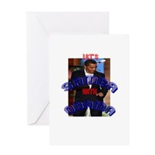 """Let's Samba with Obama"" Greeting Card"