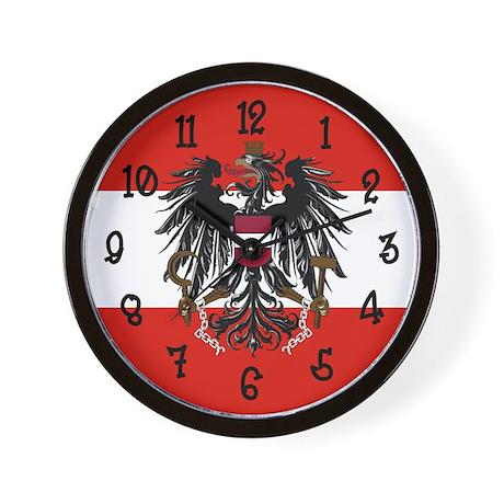 Austria Flag Wall Clock