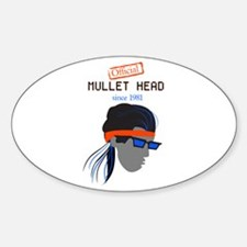 Mullet Head Oval Stickers