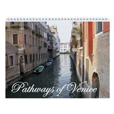 patways of venice calendar Wall Calendar