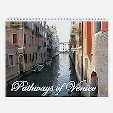 patways of venice calendar Wall Calendar