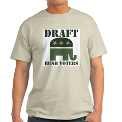 DRAFT BUSH VOTERS Ash Grey T-Shirt