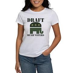 DRAFT BUSH VOTERS Women's T-Shirt