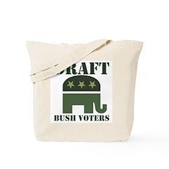 DRAFT BUSH VOTERS Tote Bag