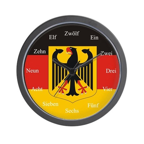 German Flag Wall Clock