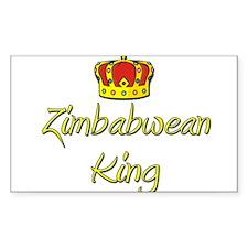 Zimbabwean King Rectangle Decal