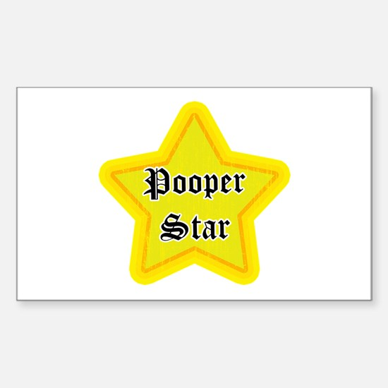 Pooper Star Rectangle Decal