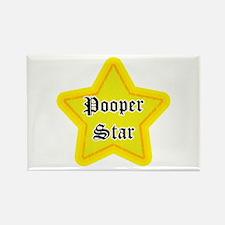 Pooper Star Rectangle Magnet