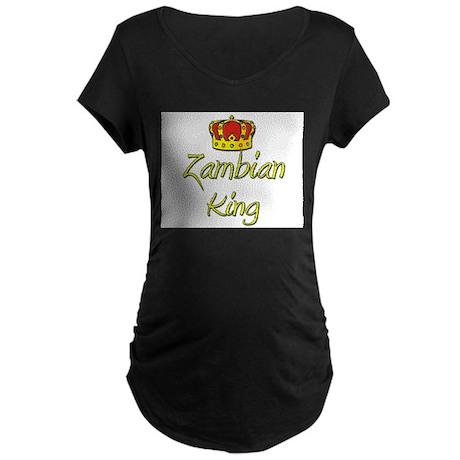 Zambian King Maternity Dark T-Shirt