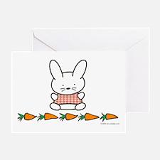 Carrot Bunny Greeting Card