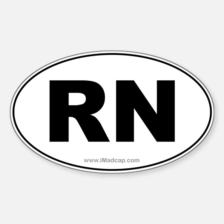 RN Car Oval Decal